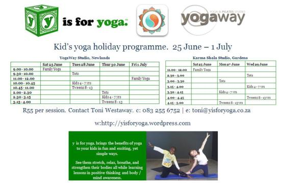 Kids Yoga June Holidays