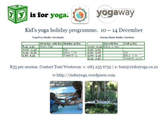 Kids Yoga Holiday Classes