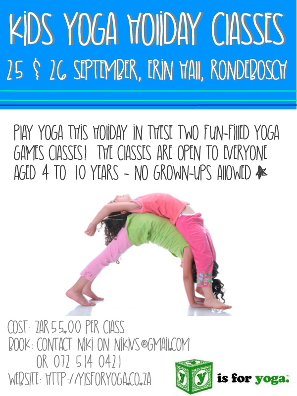 Spring Holiday Programme | y is for yoga